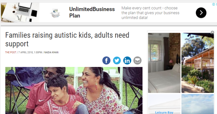 The Post Newspaper Feature – Families raising autistic kids, adults need support