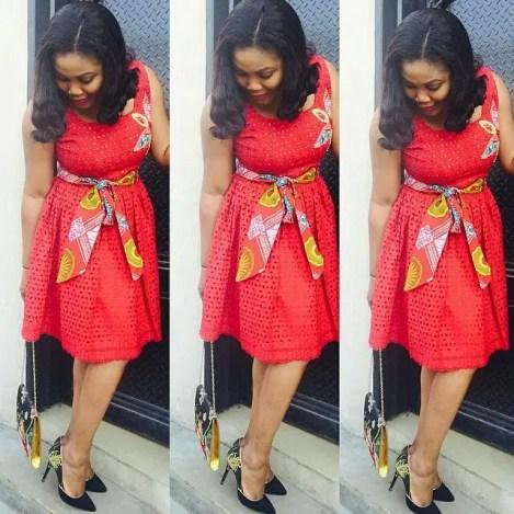 aso ebi ankara styles short gowns-amillionstyles8