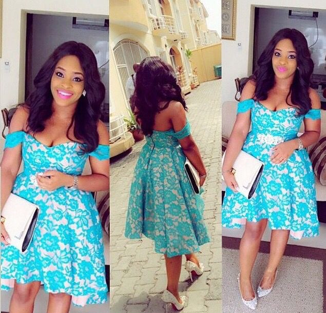 Image result for aso ebi short gown style
