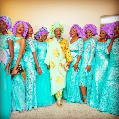 colorful asoebi in lace book 7 amillionstyles4