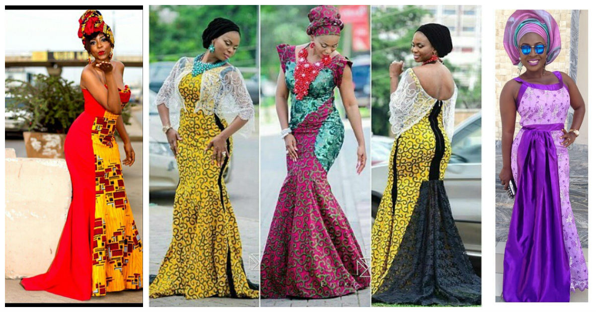 Amazing wedding guest long gowns lace ankara inspired for Amazing dresses for wedding guests