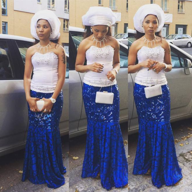 awesome aso ebi @oliviaudeze