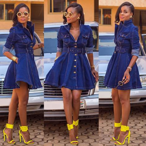 10 Awesome Females Rocking Denim Outfits. @empress_jamila