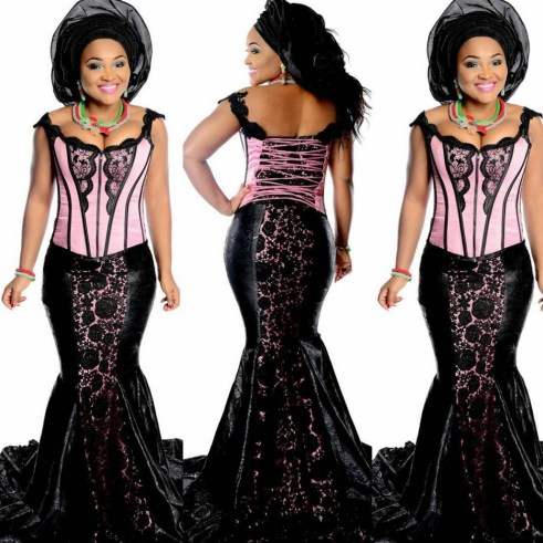 Beautiful Aso Ebi Styles - You Need To Cop @mercyaigbe