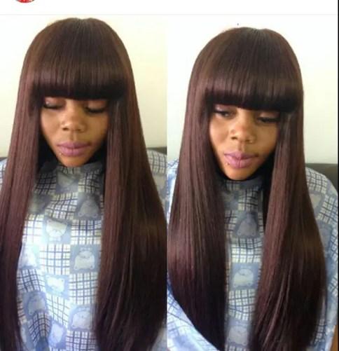 Beautiful Fringle And Short Styled Hair amillionstyles.com @dr_sammmyy