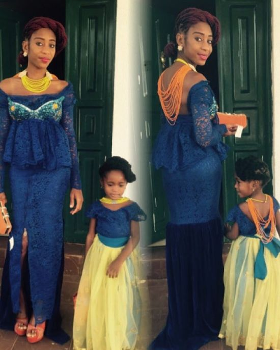 Stunning Outfit For Mother and Daughter amillionstyles.com @ojoacheone.