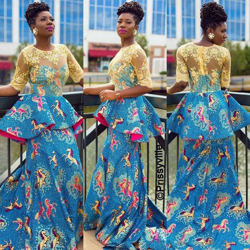 10 beautiful asoebi and ankara styles @prissyville amillionstyles.com