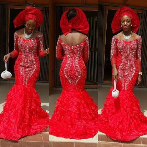 magnificent aso ebi styles in lace amillionstyles.com @lindisparkus