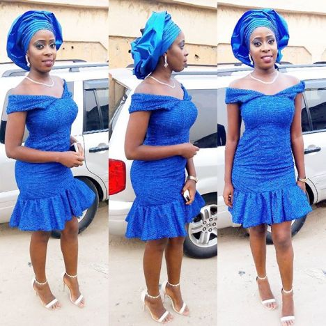Rocking Single Colour Aso Ebi Full Gown. @dharmie_diva amillionstyles