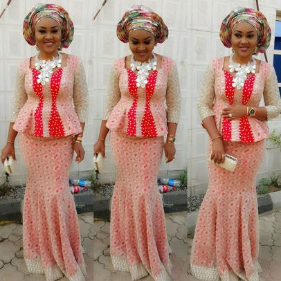 Fashion Asoebi Styles from Mercy Aigbe Gentry amillionstyles.com @mercyaigbegentry