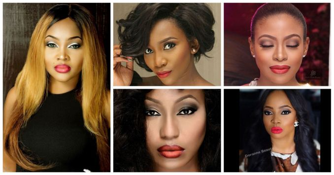 Top Nigerian Female Celebrities Rocking a Red Lippie-amillionstyles