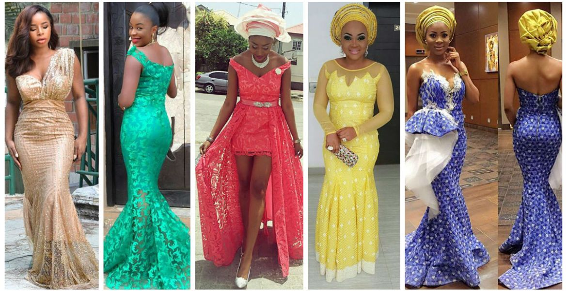 bfb0571bfbca 20 Latest and Most Recent Asoebi In Lace Style. – AMillionStyles.com