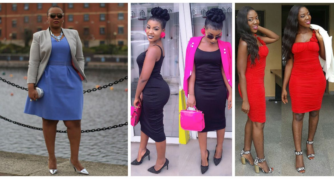 5 Nice Gown With Jacket - Office Inspired. | A Million Styles Africa