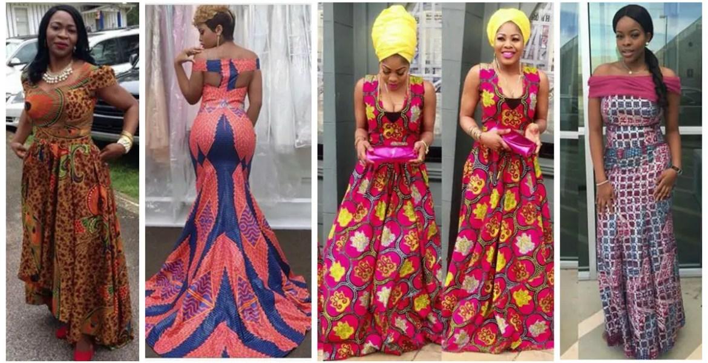 Latest Full Gown Ankara Styles amillionstyles.com