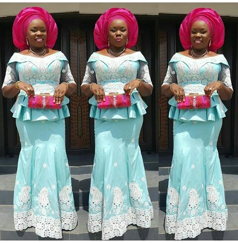 Outstanding Aso Ebi Worn Over The Weekend amillionstyles @alwaz_adorable