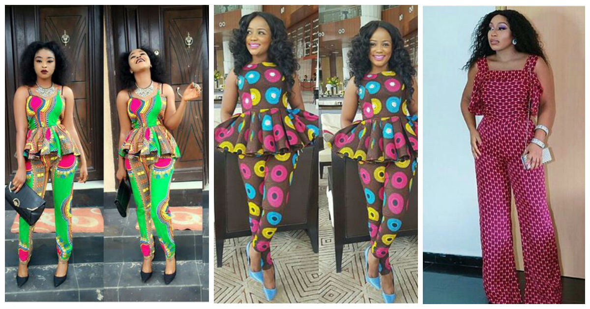 6 Pant Trousers & Jumpsuit In Ankara Styles. Amillionstyles.com