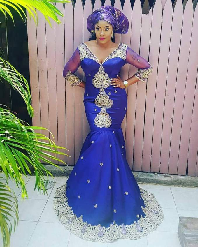 7 Perfect Aso Ebi Styles You Need To CopB Amillionstyles - Blue ensemble