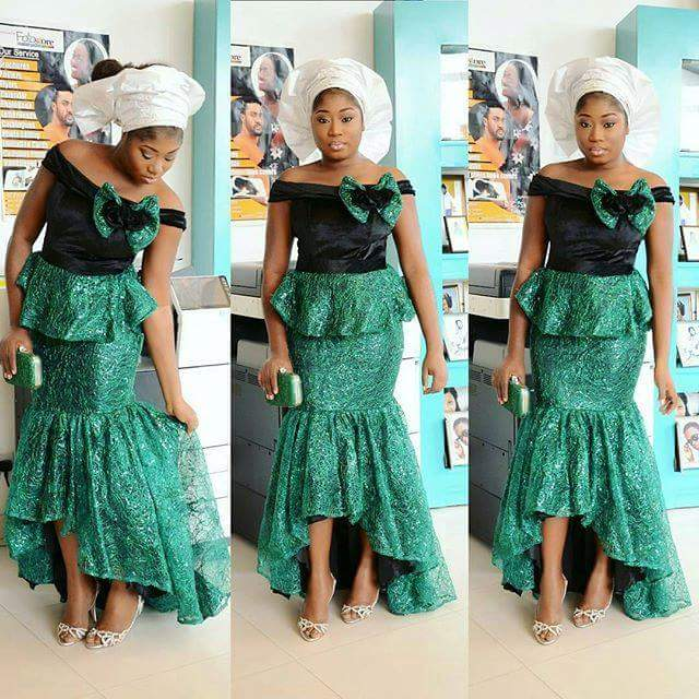 7 Perfect Aso Ebi Styles You Need To CopB Amillionstyles - Peplum style