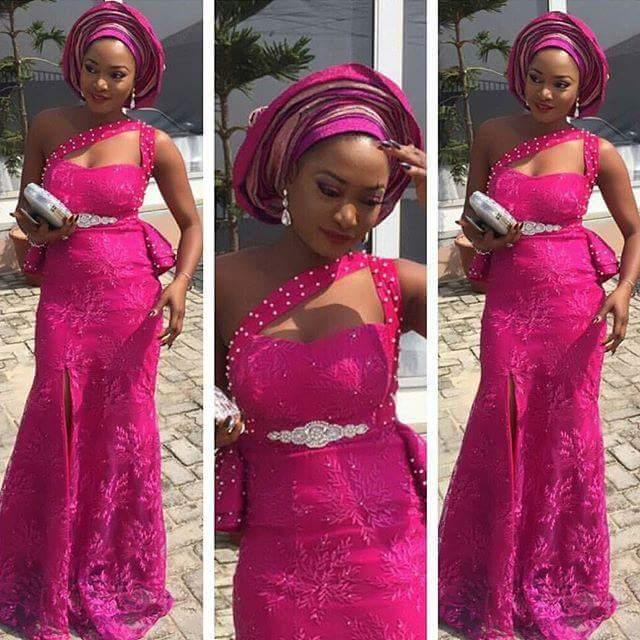 7 Perfect Aso Ebi Styles You Need To CopB Amillionstyles - Wine combo