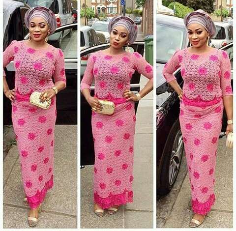 Classy Aso Ebi Styles In Lace Worn Over The Weekend i @princess_posh