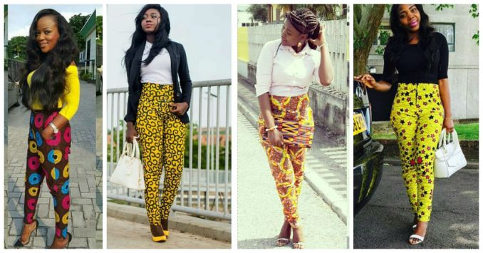 Chiffon, Jacket and Tops Slayed With Ankara Pants amillionstyles.com