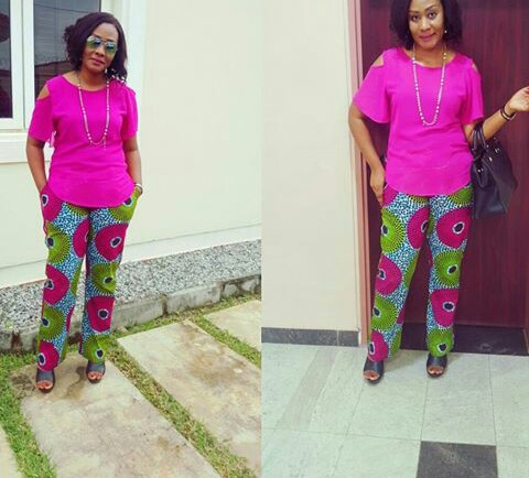 Chiffon, Jacket and Tops Slayed With Ankara Pants amillionstyles.com @abada_fashion