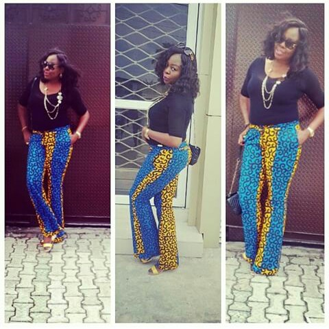 Chiffon, Jacket and Tops Slayed With Ankara Pants amillionstyles.com @joyccis