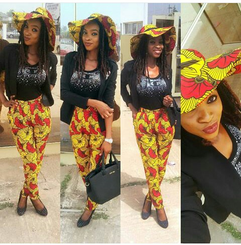Chiffon, Jacket and Tops Slayed With Ankara Pants amillionstyles.com @prextigecouture