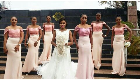 Beautiful Bridesmaid Gown @dharmie_diva
