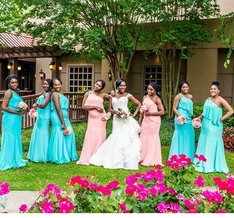 Beautiful Bridesmaid Gown @fotosbyfola