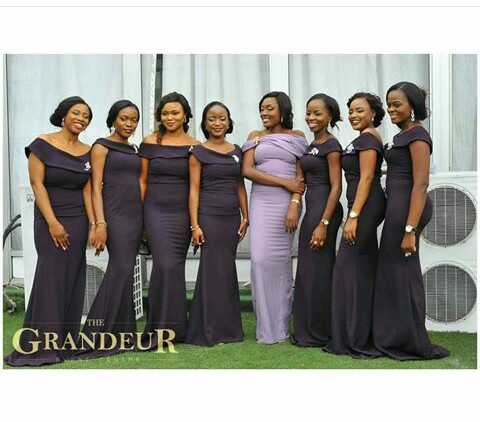 Beautiful Bridesmaid Gown @thegrandeureventsng