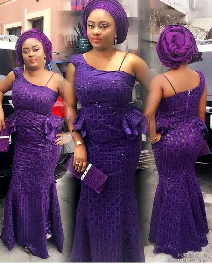 Sophisticated Nigerian Aso Ebi Styles - Amillionstyles @emmymorgang