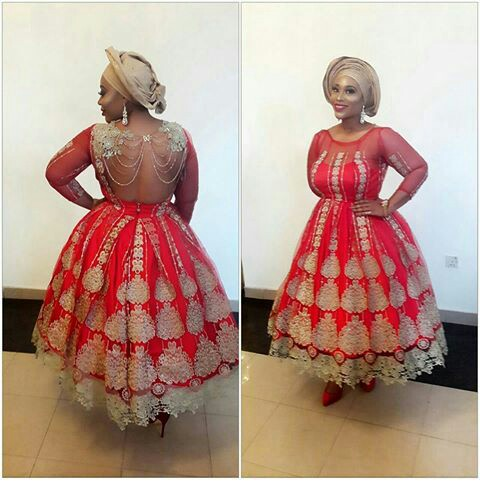 Aso Ebi Styles With This Trending Lace Designs-amillionstyles @_ruriola