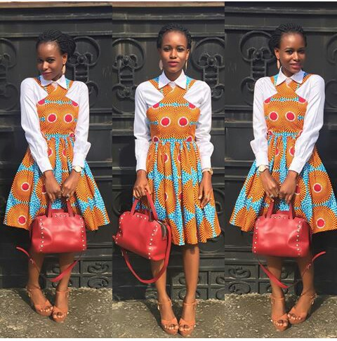 Colorful Ankara In Dungarees Style amillionstyles @_mercyadams_