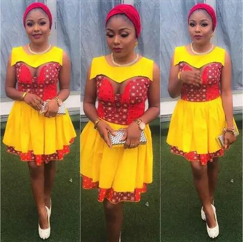 Latest Lace And Ankara Aso Ebi Styles amillionstyles @cellestre_