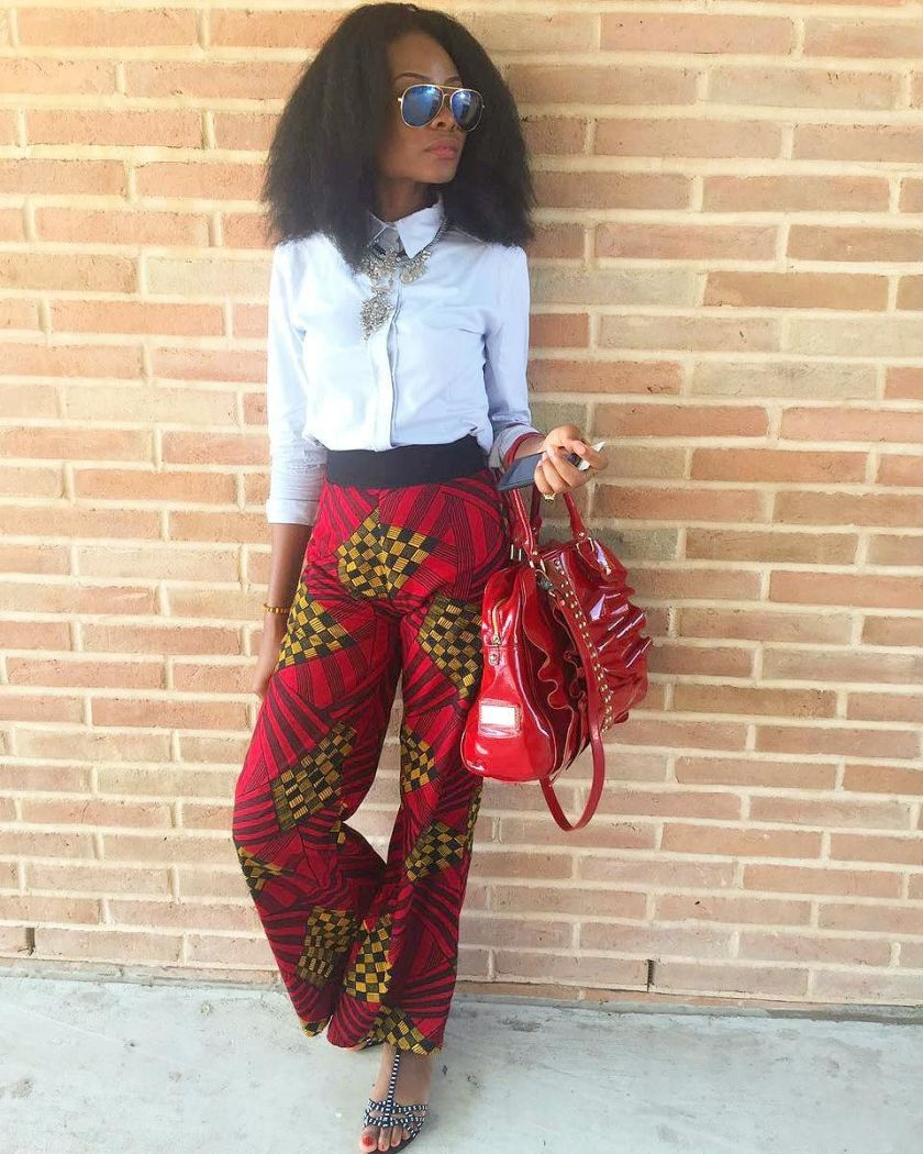 Colorful Ankara Pant amillionstyles.com @brill.i.am