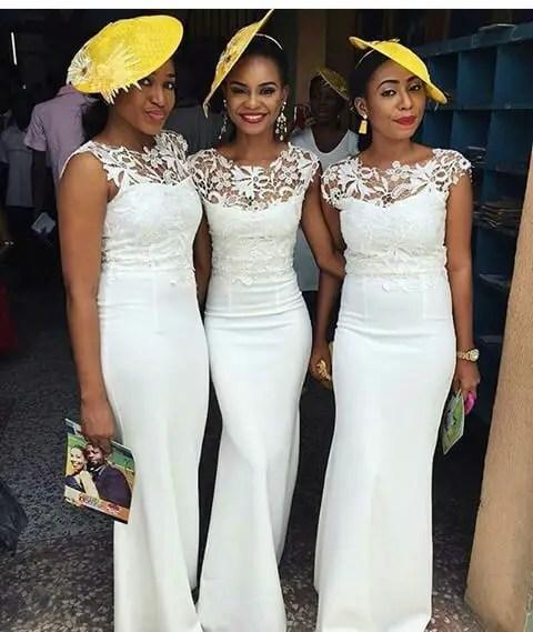Delectable Bride And Bridesmaid Outfit 2016 amillionstyles @ruvero_designs