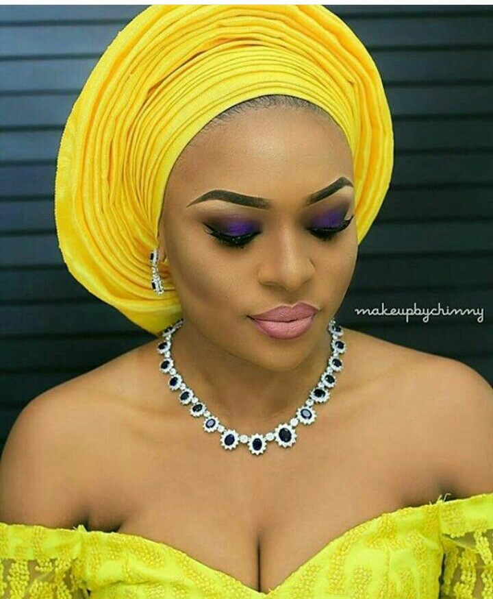 10 Lovely Traditional Bridal Makeup Looks amillionstyles @naijaglamwedding
