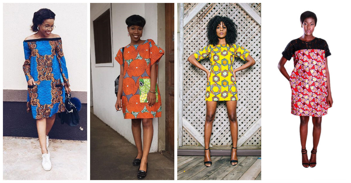 Beautiful Simple And Chic Ankara Shift Dresses A