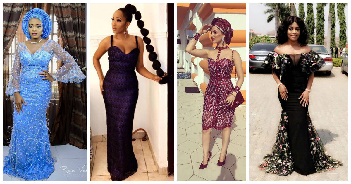 See How These Ladies Slayed Asoebi Lace Gowns