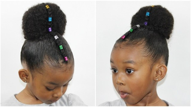 Cute Natural Hairstyle For Girls