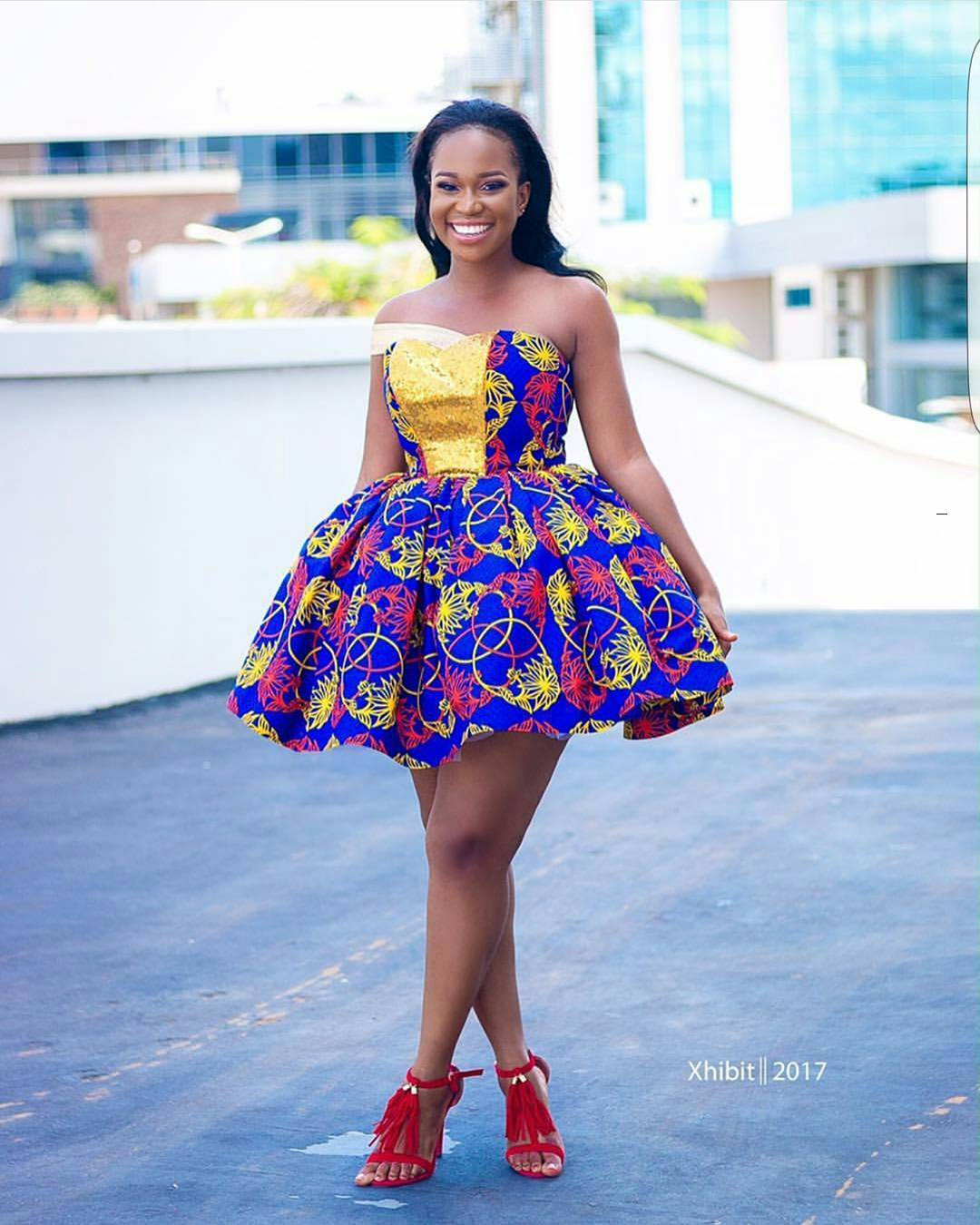 Here Are The Sweetest 2017 Short Ankara Gowns! | A Million Styles Africa