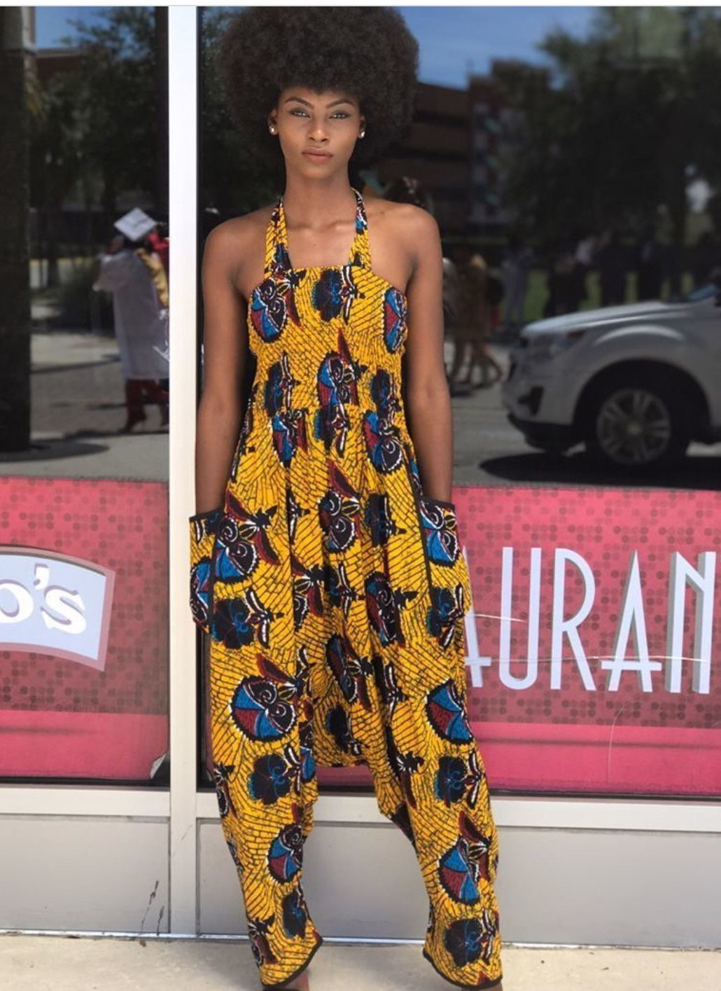 Very Stylish Ankara Dungarees That Are Trending A
