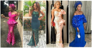 Unique And Beautiful Aso Ebi Styles Slayed At Owambe Parties Last Weekend