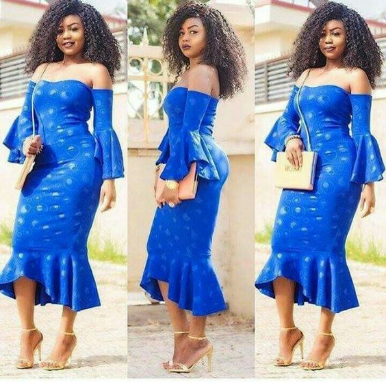We Re Serving These Fitted Flared Ankara Styles Hot A