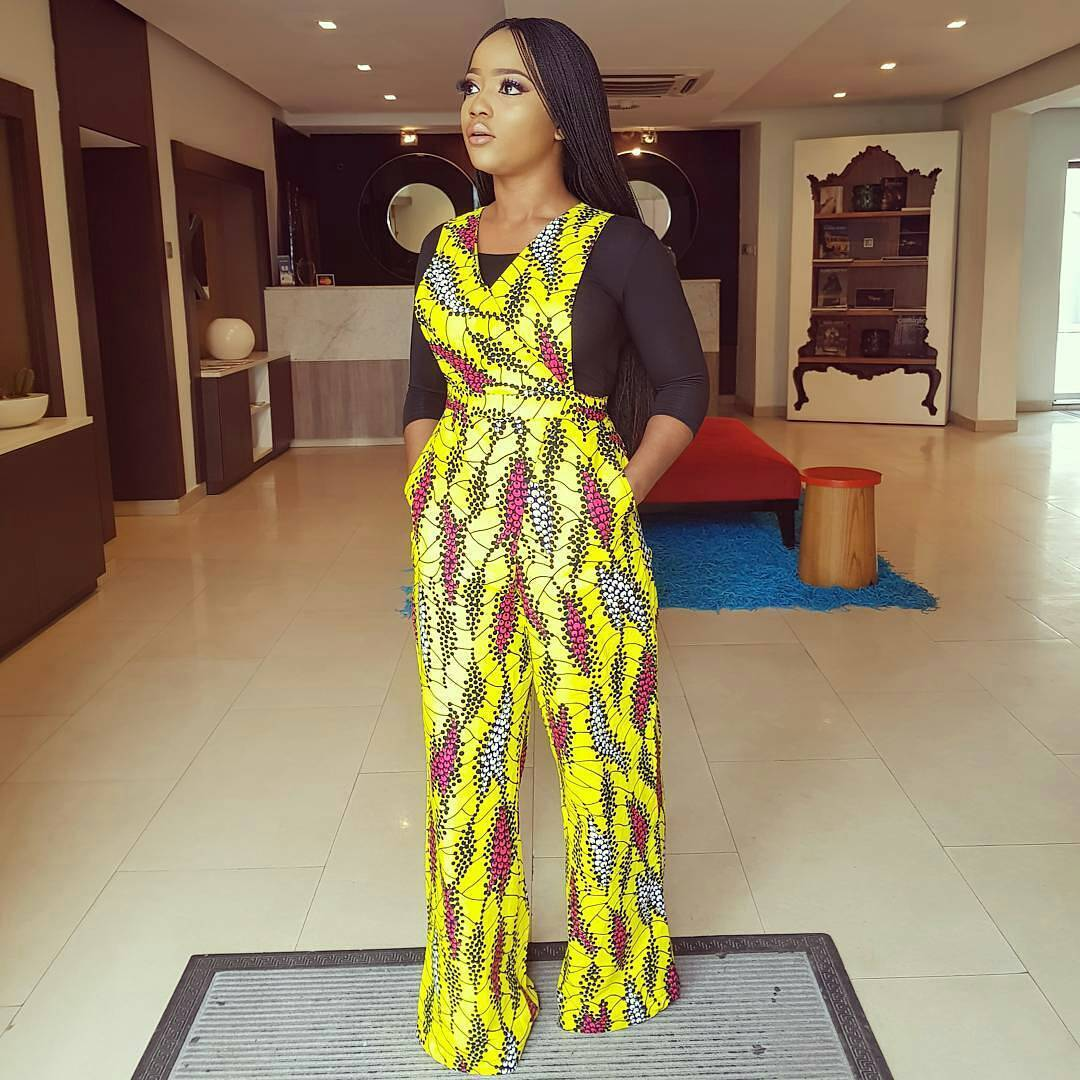 Very Stylish Ankara Dungarees That Are Trending