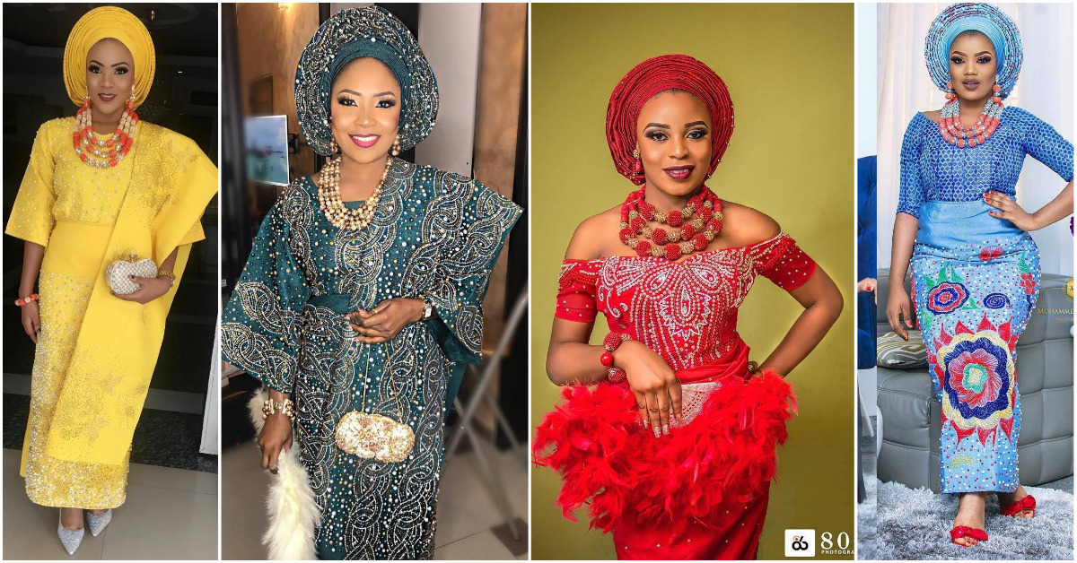 All Shades Of Beautiful Nigerian Brides Traditional