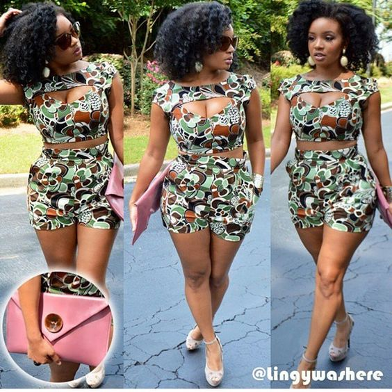 We Love Some Ankara Matching Shorts-Tops Styles