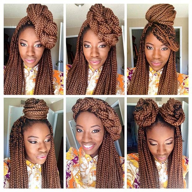 More Stylish Ways To Style Your Box Braids