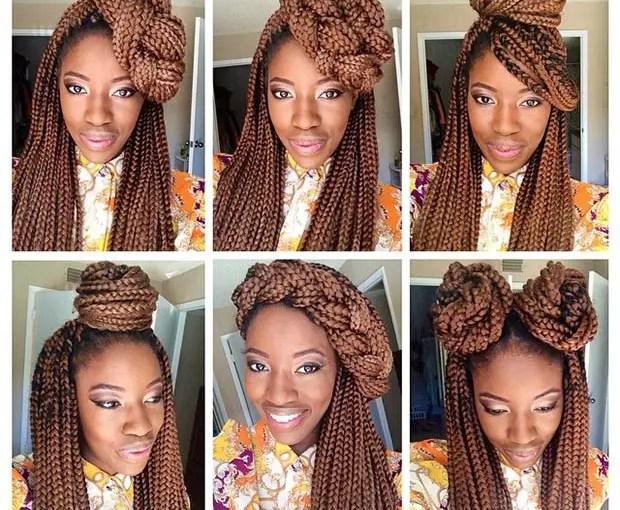 More Stylish Ways To Style Your Box Braids